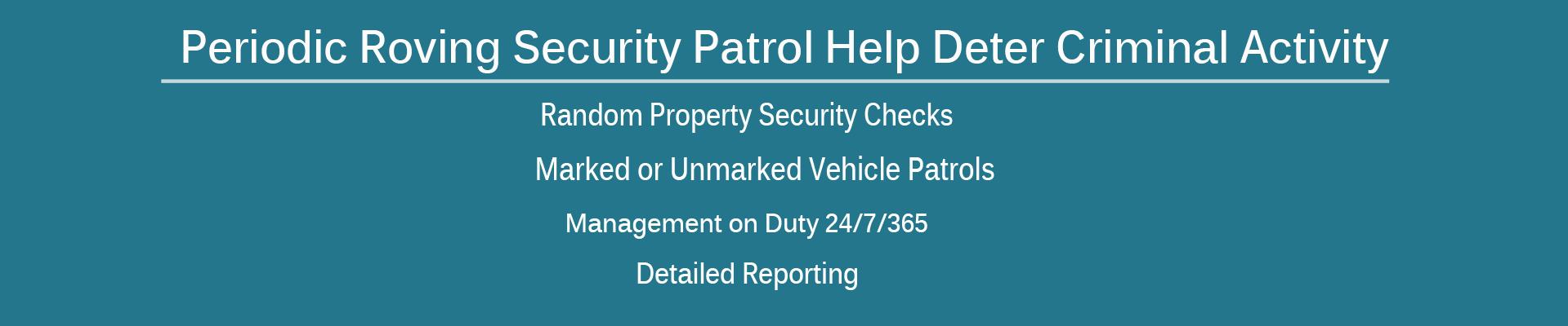 Roving Patrol