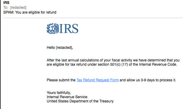 Tax Season Phishing